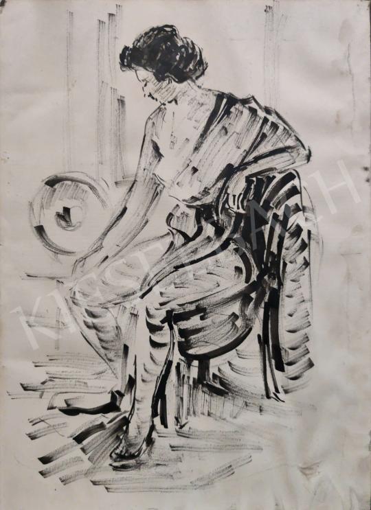 Eladó  Pláthy Iván - Modell a műteremben festménye