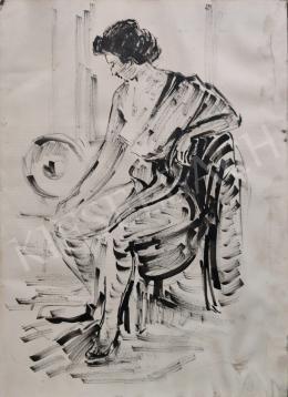 Pláthy Iván - Modell a műteremben