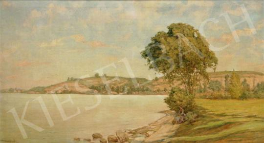 Eladó Basch Árpád - Balatonszántódi látkép (Nyári fények) festménye