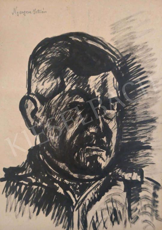 Eladó  Nyergesi István - Férfi portré festménye