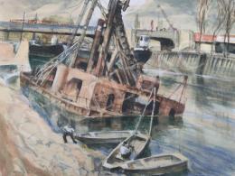 Udvary Pál - Az Árpád hídnál, 1950