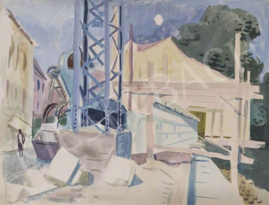 Eladó Tamás Ervin - Építkezés II, 1960 festménye