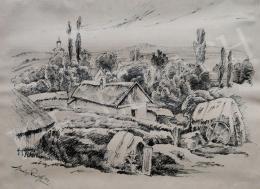 Merényi Rudolf - Falu látképe, 1923