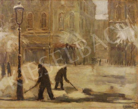 For sale Guzsik, Ödön - Snow in Pest 's painting