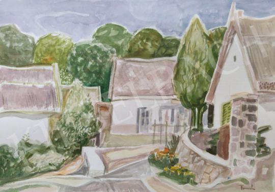 Eladó Tamás Ervin - Utcarészlet, 1991 festménye