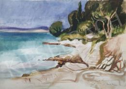 Tamás Ervin - Sziklás tengerpart, 1985