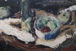 Tamás Ervin - Csümölcsös csendélet, 1958