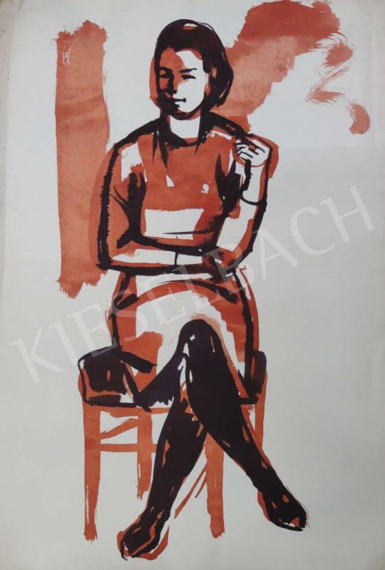 Eladó Tamás Ervin - Derűs fiatal lány, 1969 festménye