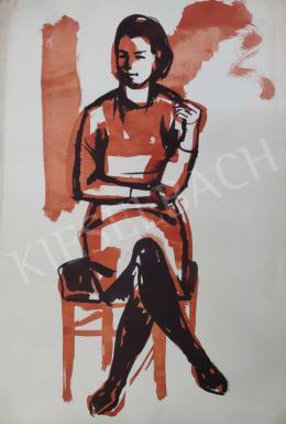 Tamás Ervin - Derűs fiatal lány, 1969