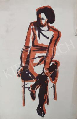 Tamás Ervin - Ülő fiatal lány, 1969