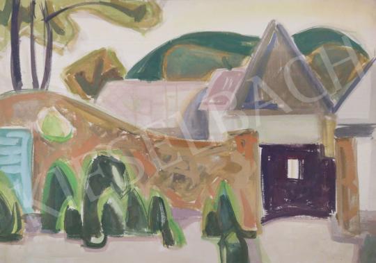 Eladó Tamás Ervin - Kőkerítés, 1963 festménye