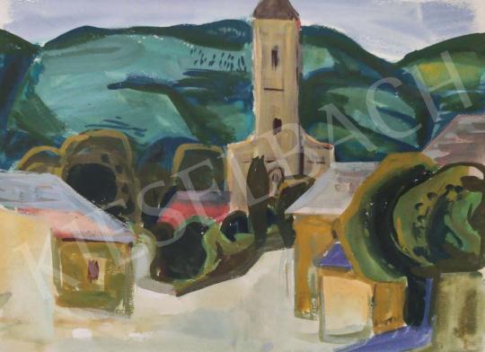 Eladó Tamás Ervin - Kis templom, 1967 festménye