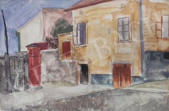 Eladó Tamás Ervin - Kisvárosi ház, 1958 festménye