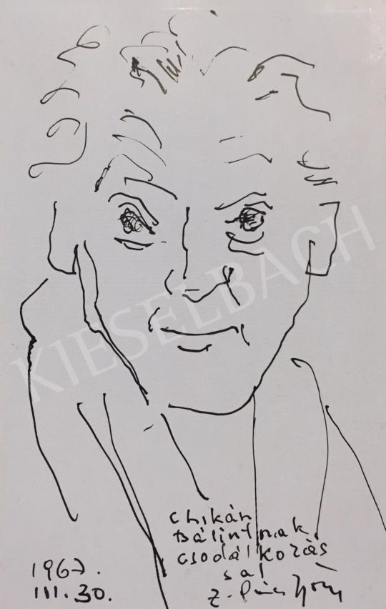 Eladó  Z. Gács György - Önarckép, 1967 festménye