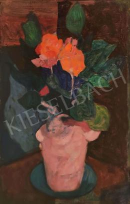 Gábor Móric - Vörös virágok (1940 körül)