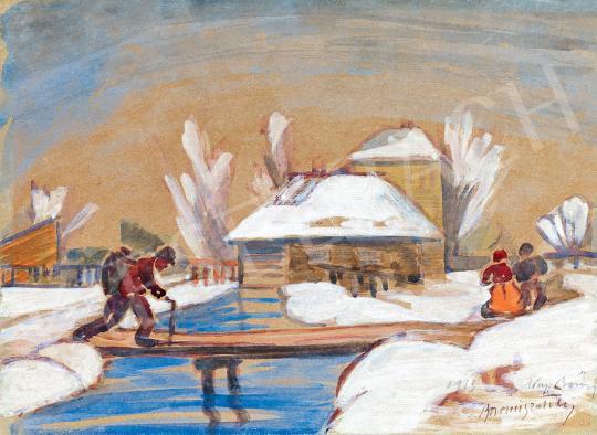 Eladó Boromisza Tibor - Tél Nagybányán 1913 festménye