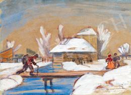 Boromisza Tibor - Tél Nagybányán 1913
