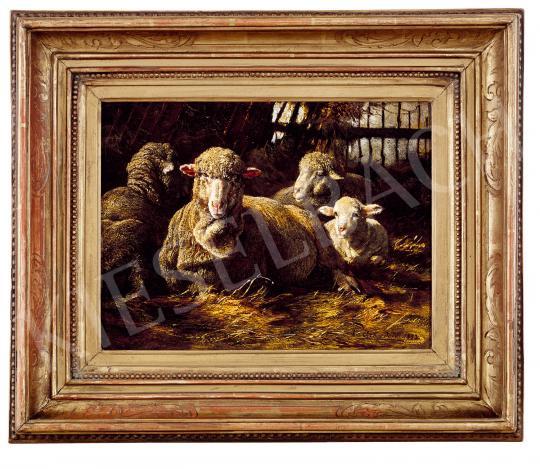 Eladó Pállik Béla - Birkák, 1883 festménye