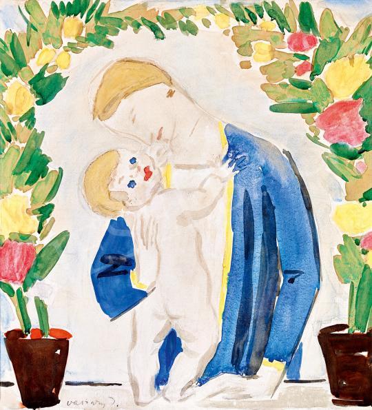 Eladó  Vaszary János - Anya gyermekével, 1926 festménye