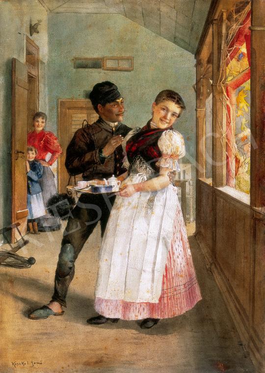 Eladó Koszkol Jenő - Udvarlás festménye