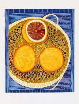 Pintér Éva - Narancsos csendélet