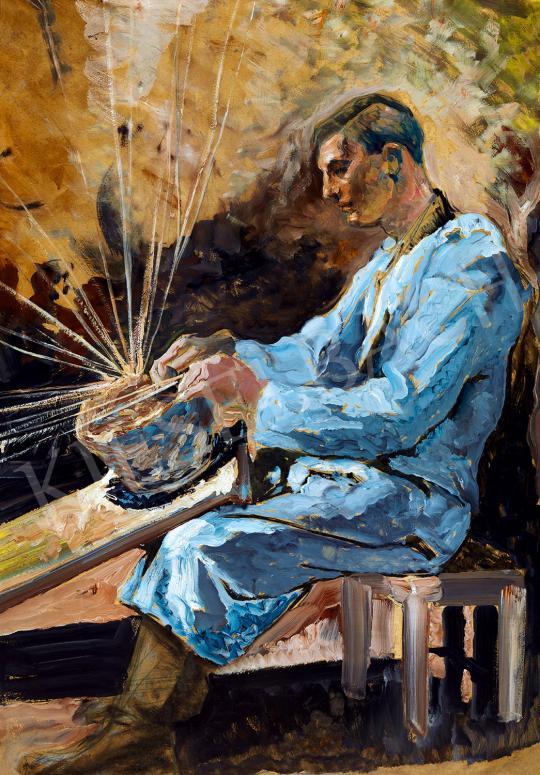 Eladó  Scheiber Hugó - Kosárfonó, 1918körül  festménye