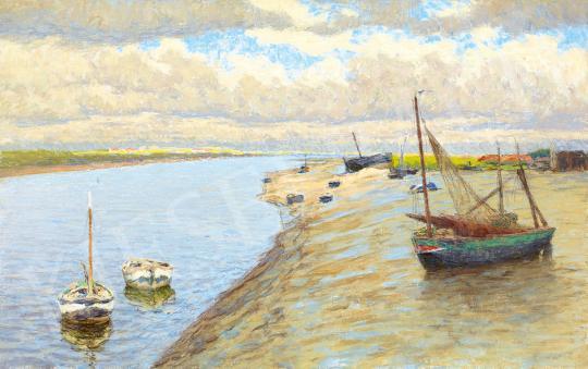 Eladó  Poll Hugó - Bretagne-i vitorlások, 1910 körül festménye