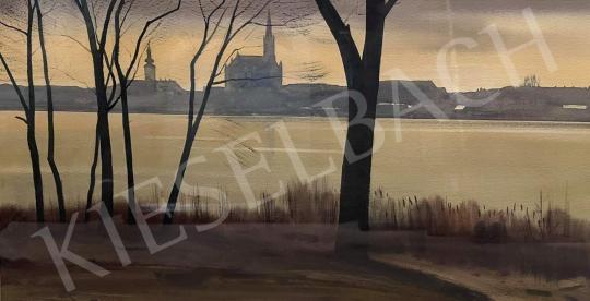 Eladó Dobroszláv József - A Ráckevei-Duna partján (Ráckeve)  festménye