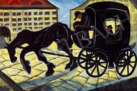 For sale  Scheiber, Hugó - Horse Carriage (Evening Lights), 1930s 's painting