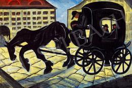 Scheiber, Hugó - Horse Carriage (Evening Lights), 1930s