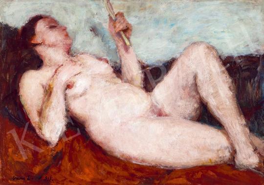 Eladó Vass Elemér - Női akt műteremben, 1931 festménye