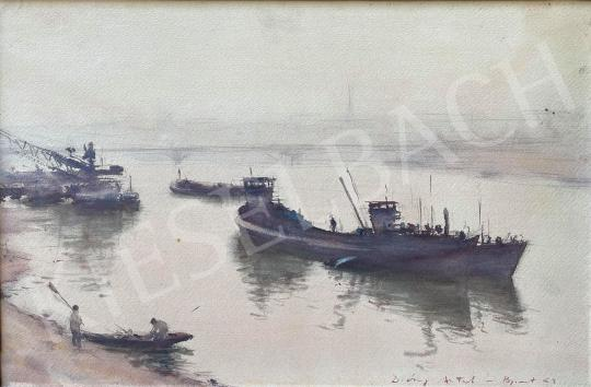 Eladó Diósy Antal - Duna part, Margit-híd festménye
