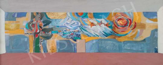 Eladó Tamás Ervin - Miskolci mozaik ötlete, 1974 festménye