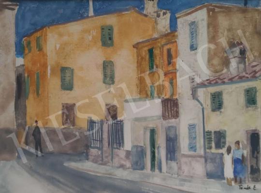 Eladó Tamás Ervin - Olasz kisváros, 1961 festménye