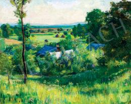 Kollerich István - Nagybányai táj (Hommage á Pisarro), 1910 körül