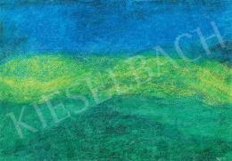 Fekete Nagy Béla - Kék-zöld táj finom struktúrákkal