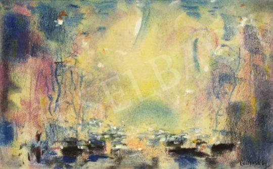 Eladó  Ruzicskay György - Nagyvárosi forgatag festménye