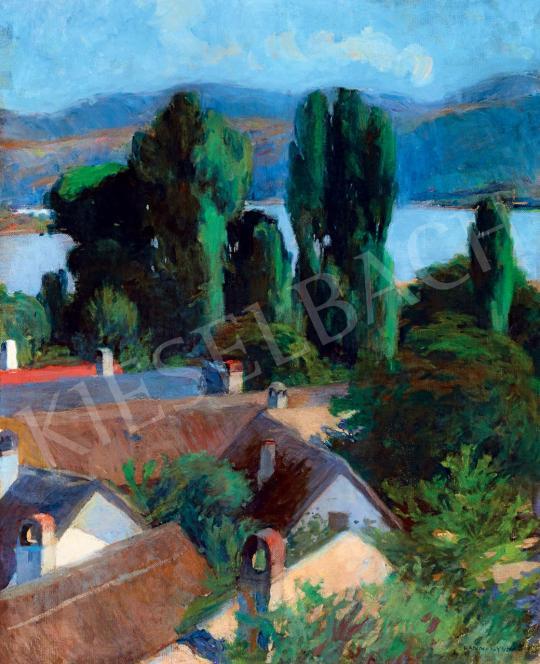 Eladó Kosztolányi Kann Gyula - Kilátás a Dunakanyarra (Dömös), 1900 körül festménye