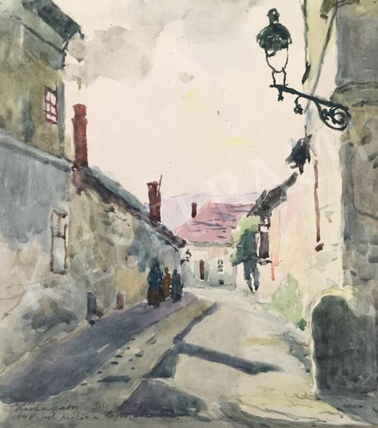 Eladó  Kássa Gábor - Kisköz a Lugas utcából (Jós utcaköz), 1948 festménye