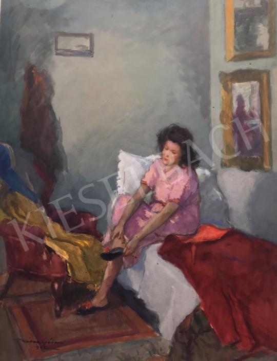 Eladó  Kássa Gábor - A rózsaszín ruha, 1942 festménye