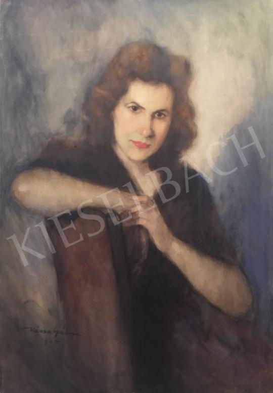 Eladó  Kássa Gábor - Barna hajú lány, 1945 festménye