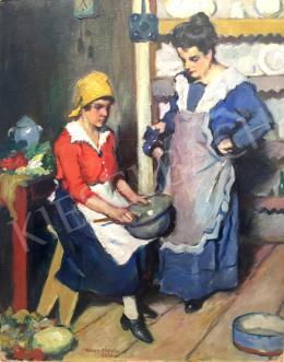 Kássa Gábor - Konyhában, 1926