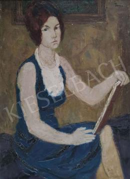 Tamás Ervin - Festő lány, 1963