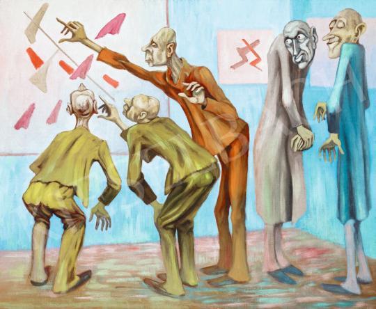 Eladó Nagy Károly - Aha, értem! - Ismerkedés a kortárs művészettel (Beavatottak és kívülállók), 1960-as évek festménye