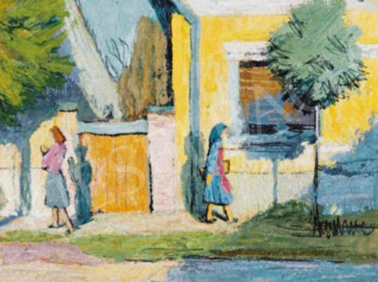 Eladó  Czene Béla - Szolnoki utca (Vasárnap délután) festménye