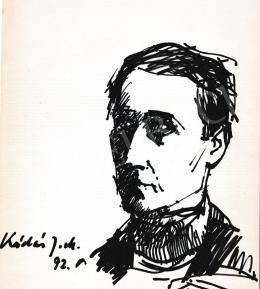 Kádár, János Miklós (Kádár J. Miklós) - Self portrait, 1992