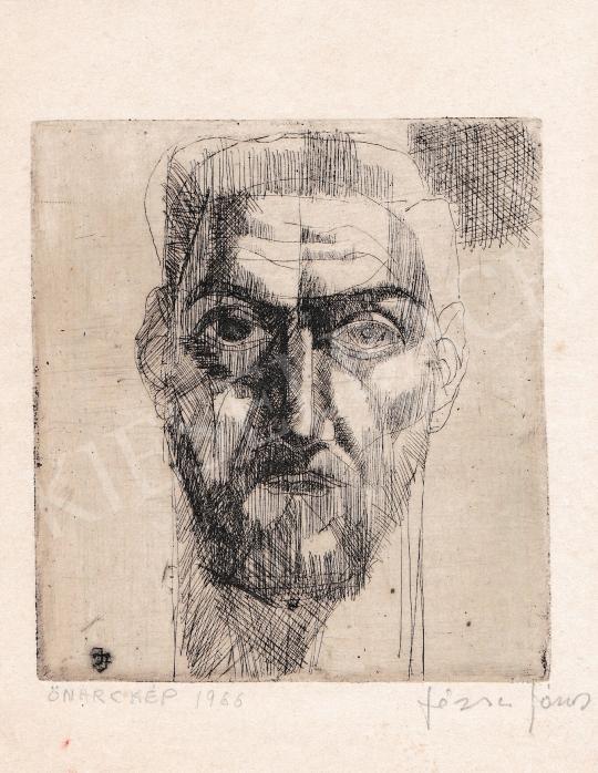 Eladó  Józsa János - Önarckép, 1966 festménye