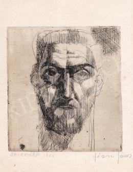 Józsa János - Önarckép, 1966
