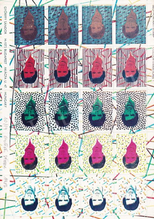Eladó  Győrffy Sándor - Bélyegterv (Önarckép) I., 1986 festménye