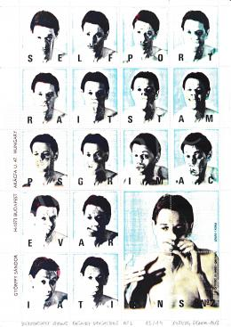 Győrffy Sándor - Stamp Design (Self Portrait) II., 1986
